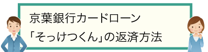 京葉銀行カードローン「そっけつくん」の返済方法