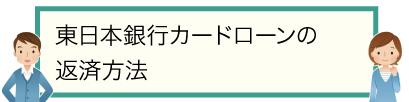 東日本銀行カードローンの返済方法