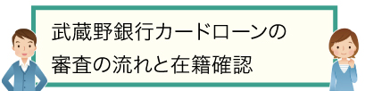 武蔵野銀行カードローンの審査の流れと在籍確認