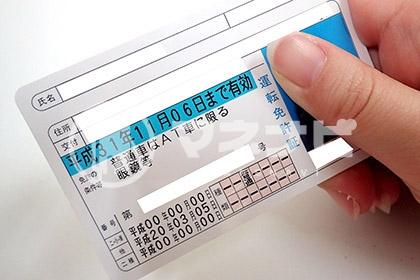 運転免許証の写真