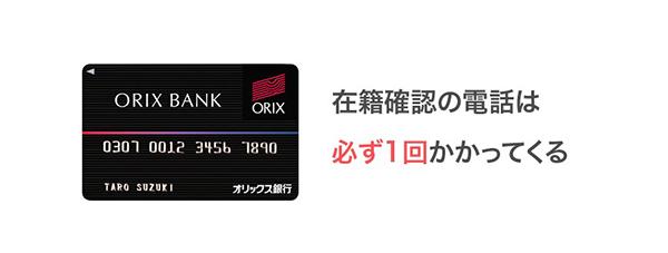 オリックス銀行カードローンの在籍確認のイメージ画像