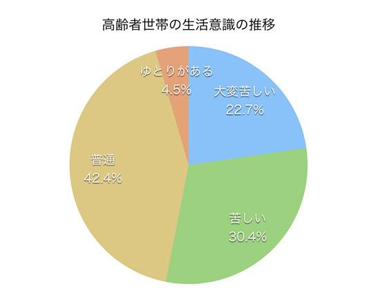 年金生活者の貧困を示すグラフ