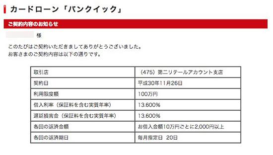 三菱UFJ銀行の本審査の結果