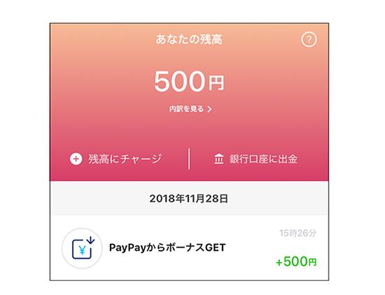 paypayの口座残高のイメージ画像